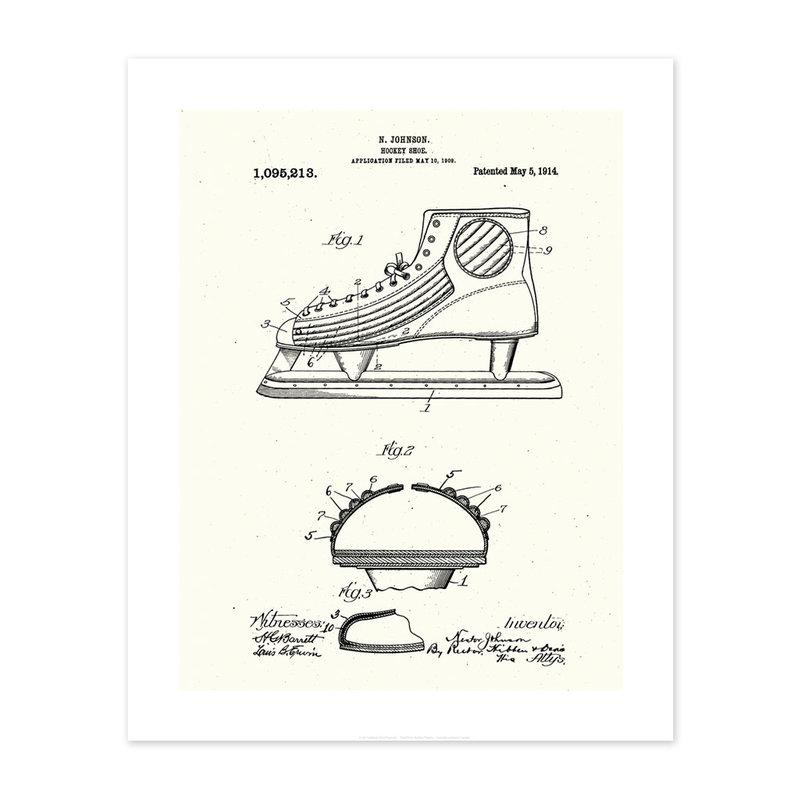 Vivid Print Hockey Shoe Patent