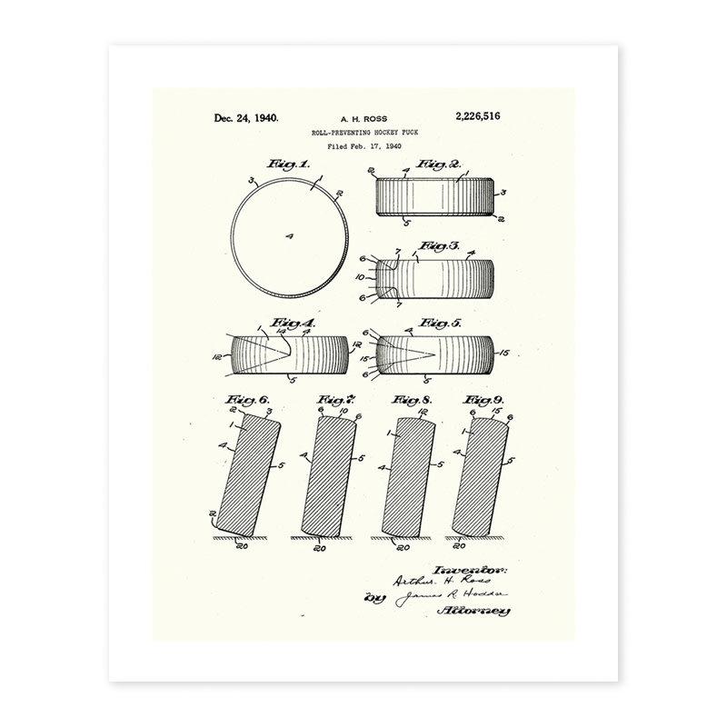 Vivid Print Hockey Puck Patent