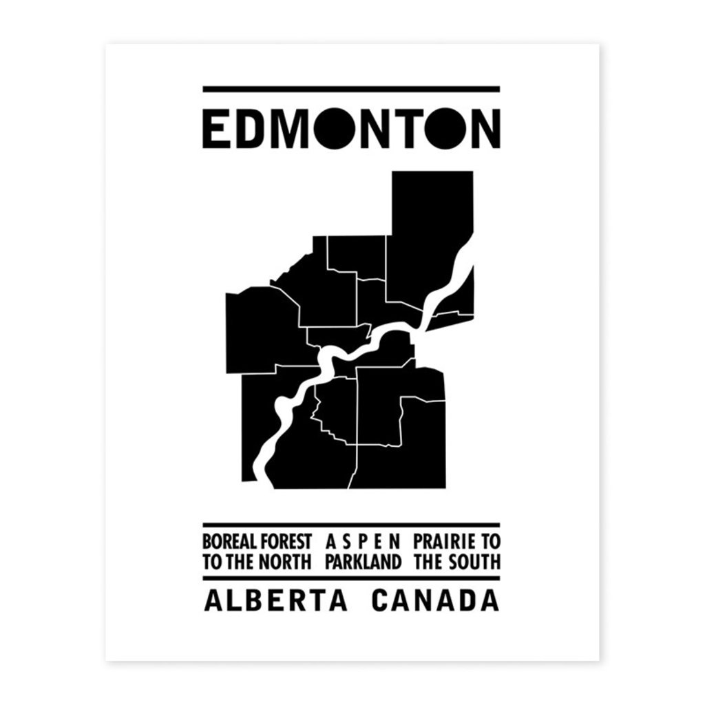 Bee Waeland Bee Waeland | Edmonton Map Black