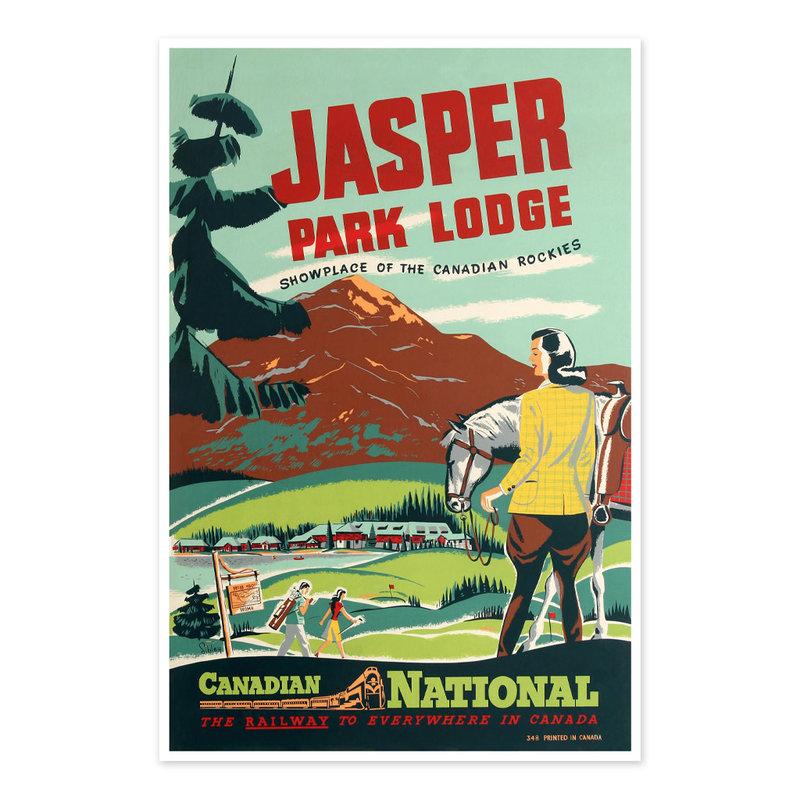 Vivid Print Jasper Park Lodge - Showplace of the Canadian Rockies