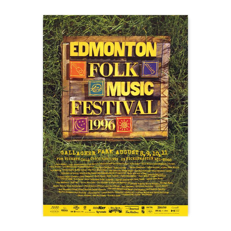 Vivid Print Edmonton Folk Music Festival 1996 Poster