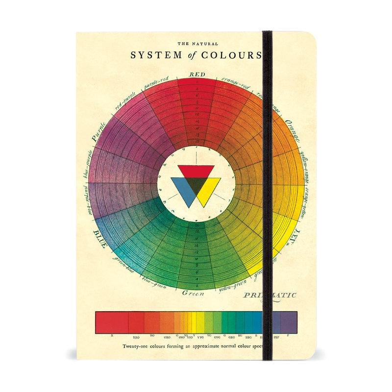 Cavallini Color Wheel Large Notebook