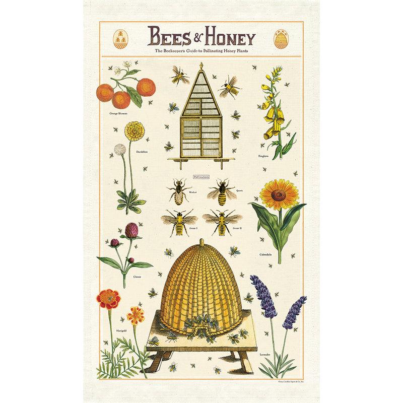 Cavallini Bees & Honey Tea Towel