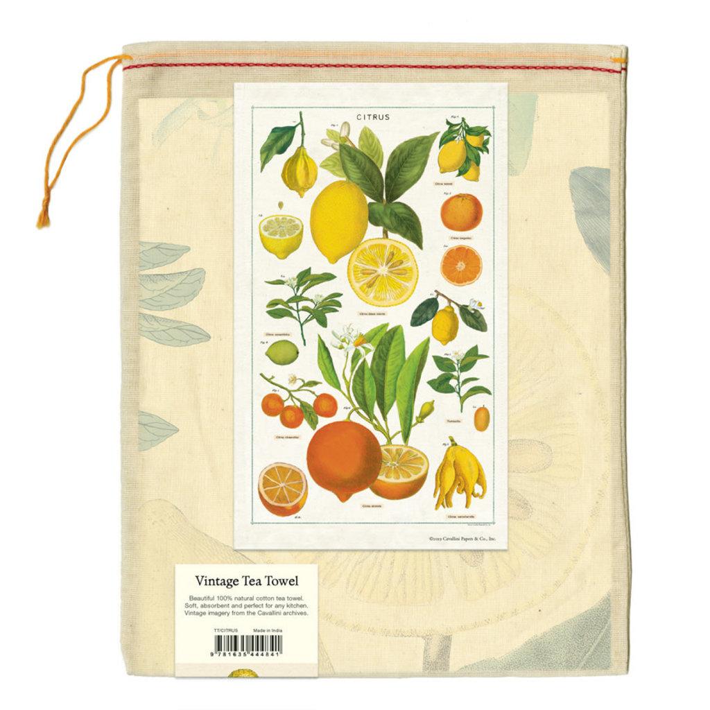 Cavallini Citrus Tea Towel