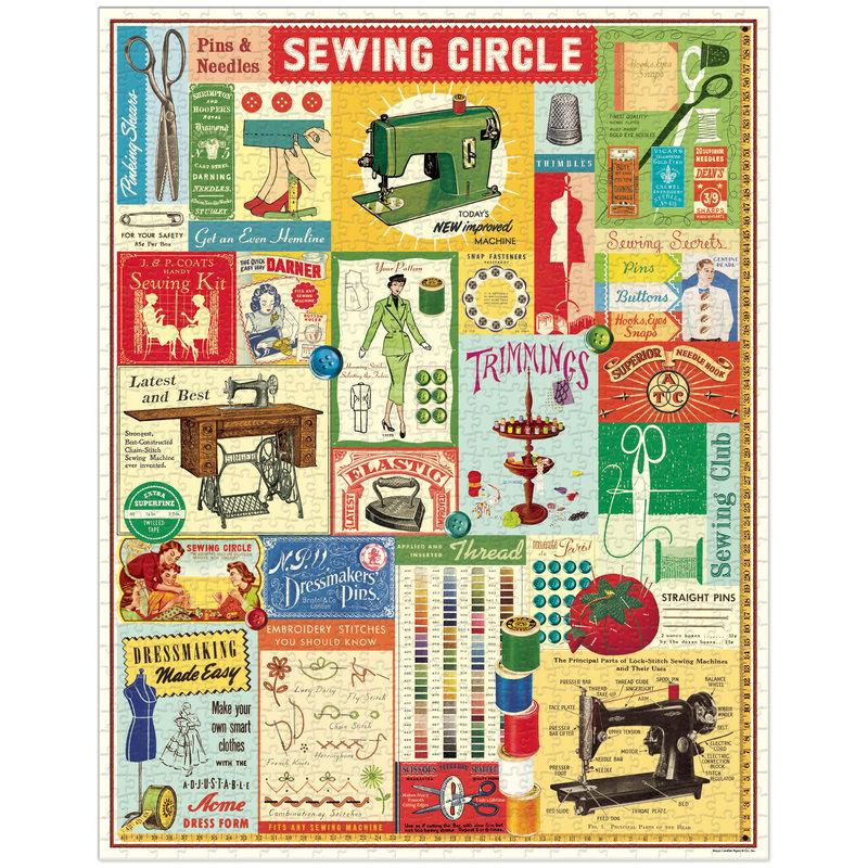 Cavallini Sewing 1,000 Piece Puzzle