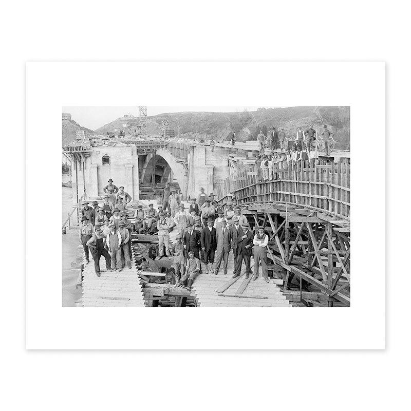 Vivid Archives Construction of Centre Street Bridge, 1916