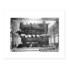 Vivid Archives Engines Under Repair at Ogden Shops 1913
