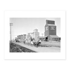 Vivid Archives Hauling grain to Vulcan 1928