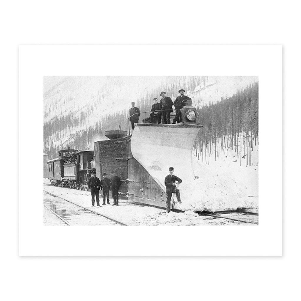Vivid Archives Canadian Pacific Railway Snow Plough, 1899