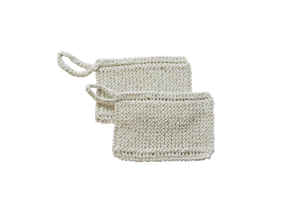 Handmade Organic Cotton Scrubber - Hanging