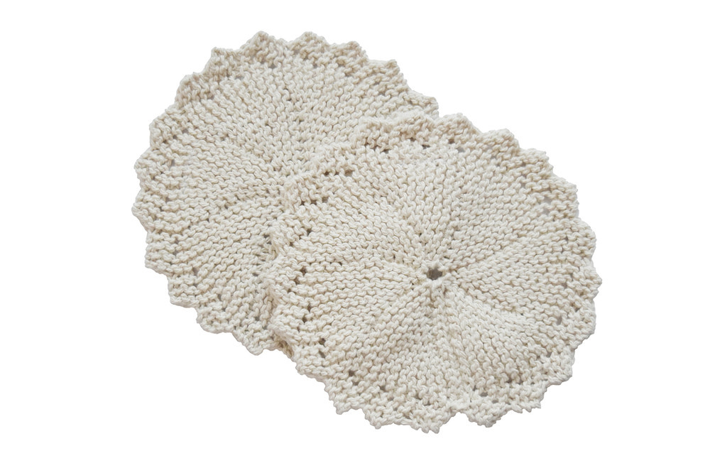 Handmade Organic Cotton Scrubber - Round