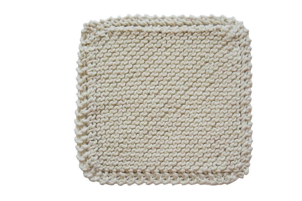 Handmade Organic Cotton Scrubber - Square