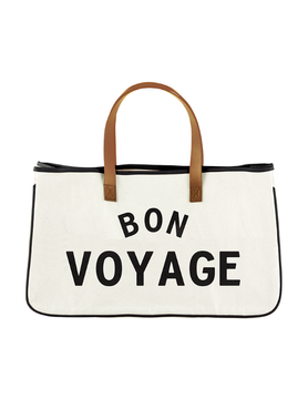 Bon Voyage - Large Canvas Tote