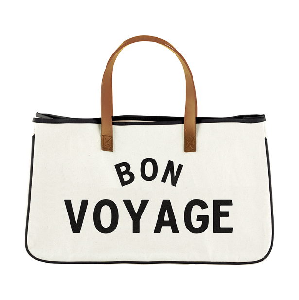 Bon Voyage - Large Canvas Tote