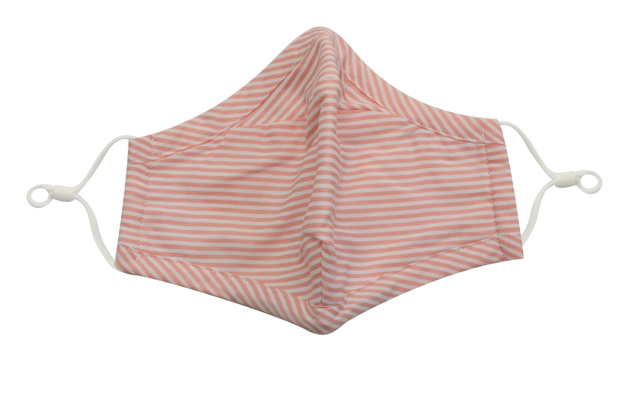 French Mercantile Face Mask - Pink Stripe