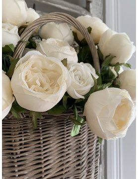 Vintage White Cabbage Rose Bundle