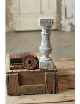 Limed Oak Candle Holder