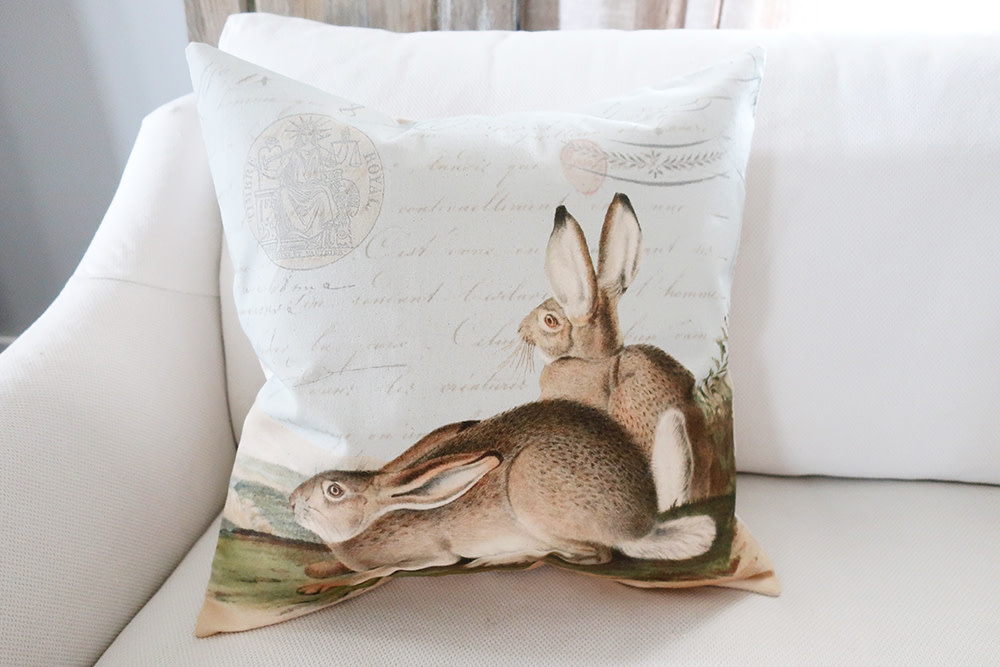 French Hare Pillow - Cover Only