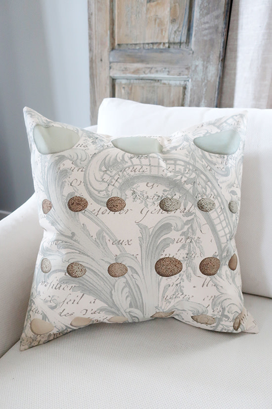 French Light Blue Eggs Pillow - Cover Only