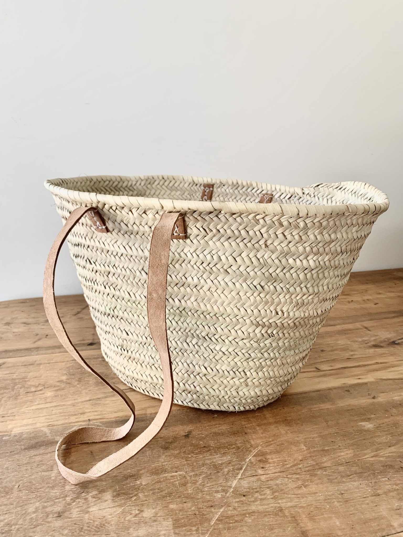 Long Handle French Market Basket - Light