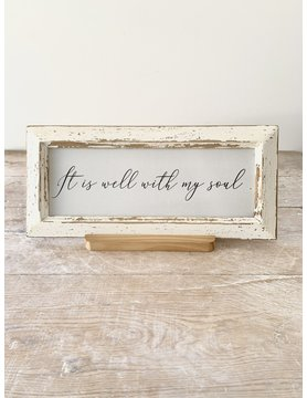 It is well with my soul - Vintage sign w/ stand