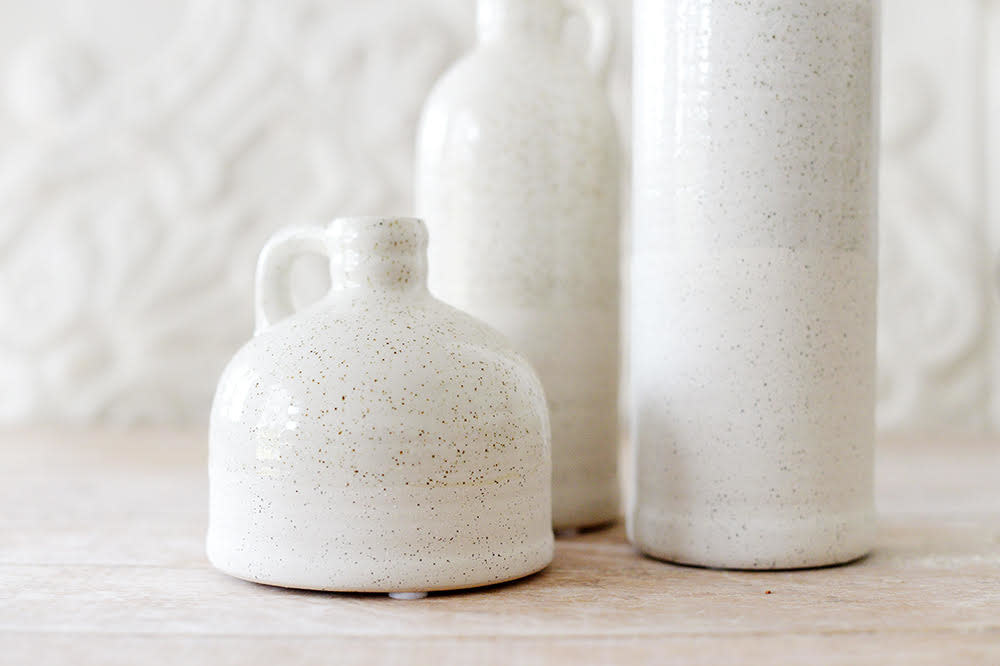 French Inspired Stoneware Bottles - Set of 3