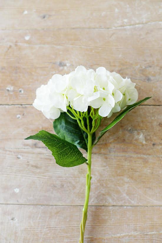 Vintage White Hydrangea Stem