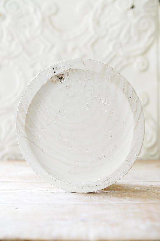 Paulowina Wood Bowl - white
