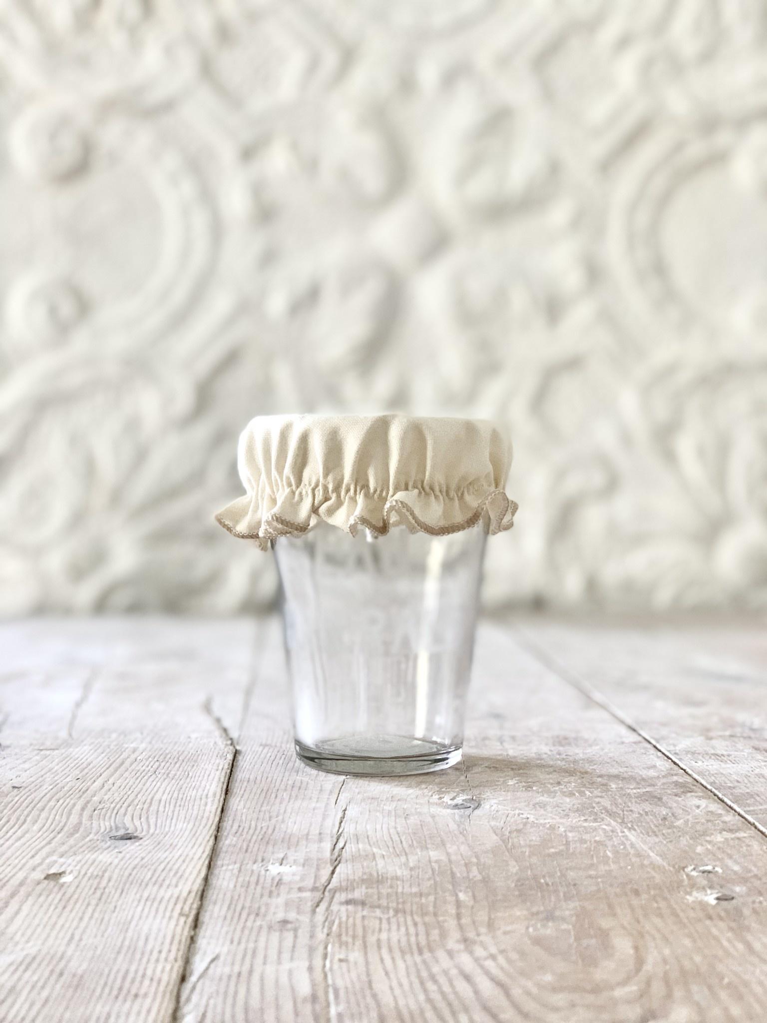 Linen Mason Jar Cover