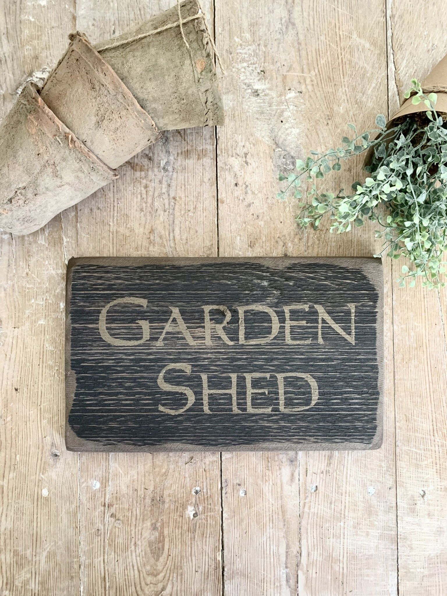 Distressed Garden Shed Sign