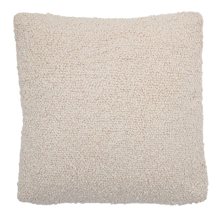 20x20 Woven Cream Pillow Cover