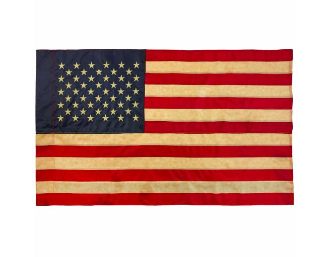 "Aged USA Flag 28x50""  (Nylon)"