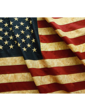 "Aged USA Flag 28x50""  (Nylon)"