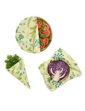 Bee's Wrap - Set of 3 Vegan Plant Based Herb Garden Wraps