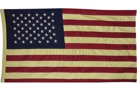 "Aged American Flag 58"""