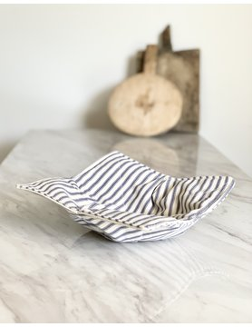 French Blue Ticking Bowl Cozy - Hand Wash