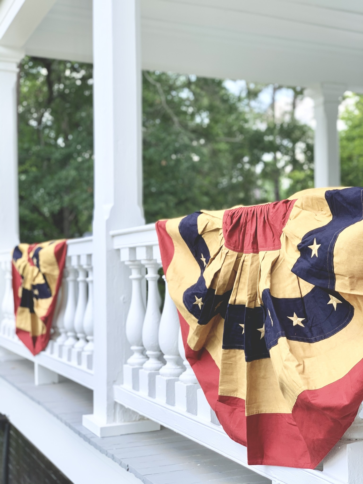 """Aged Bunting Flag 55"""""""