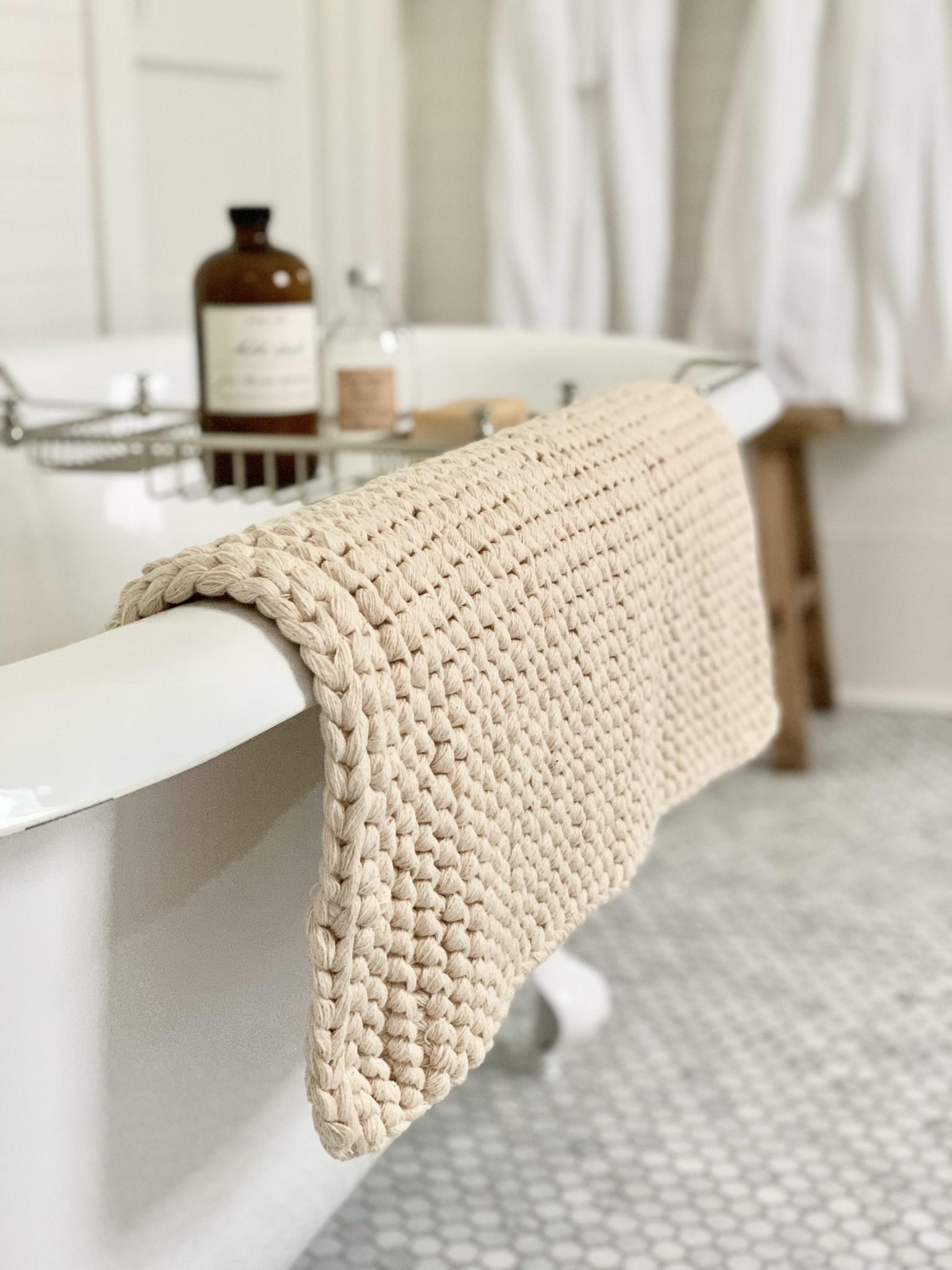 Natural Cotton Bath Mat