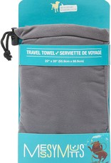 Messy Mutts Messy Mutts Microfiber Quick Dry Travel Towel Cool Grey