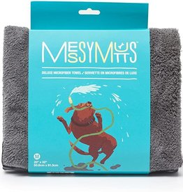Messy Mutts Messy Mutt-Microfibre Towel w Hand Pockets-Cool grey
