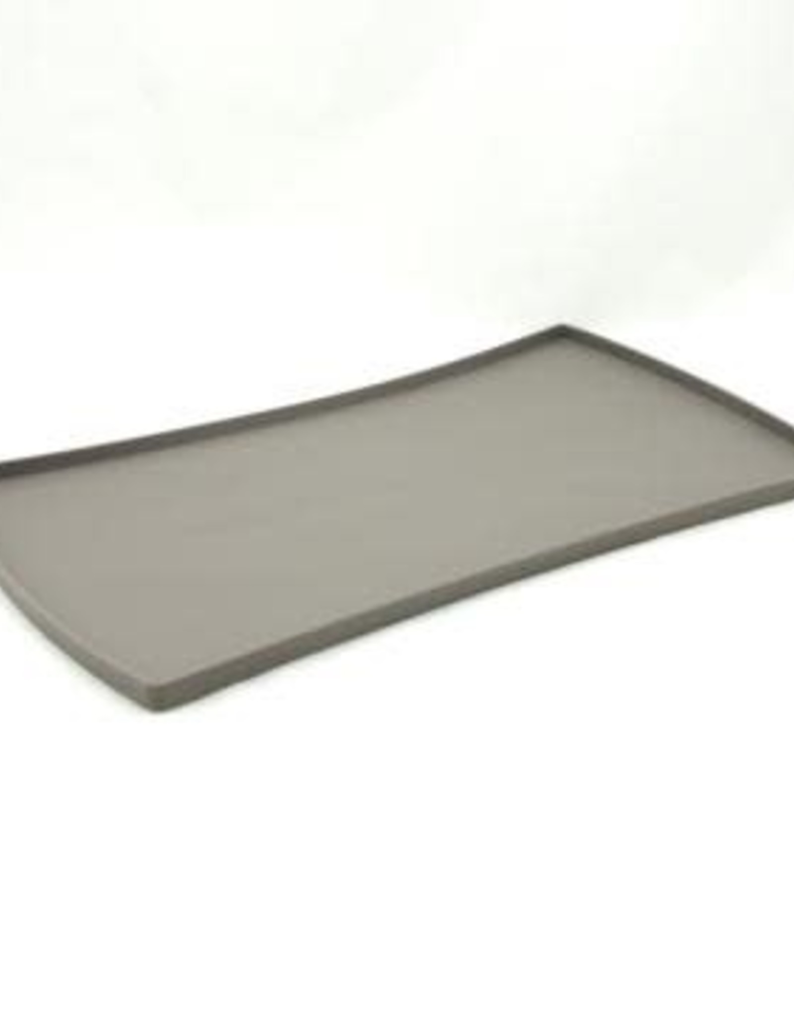 Messy Mutts Messy Mutts Silicone Mat with Raised Edge Dark Grey