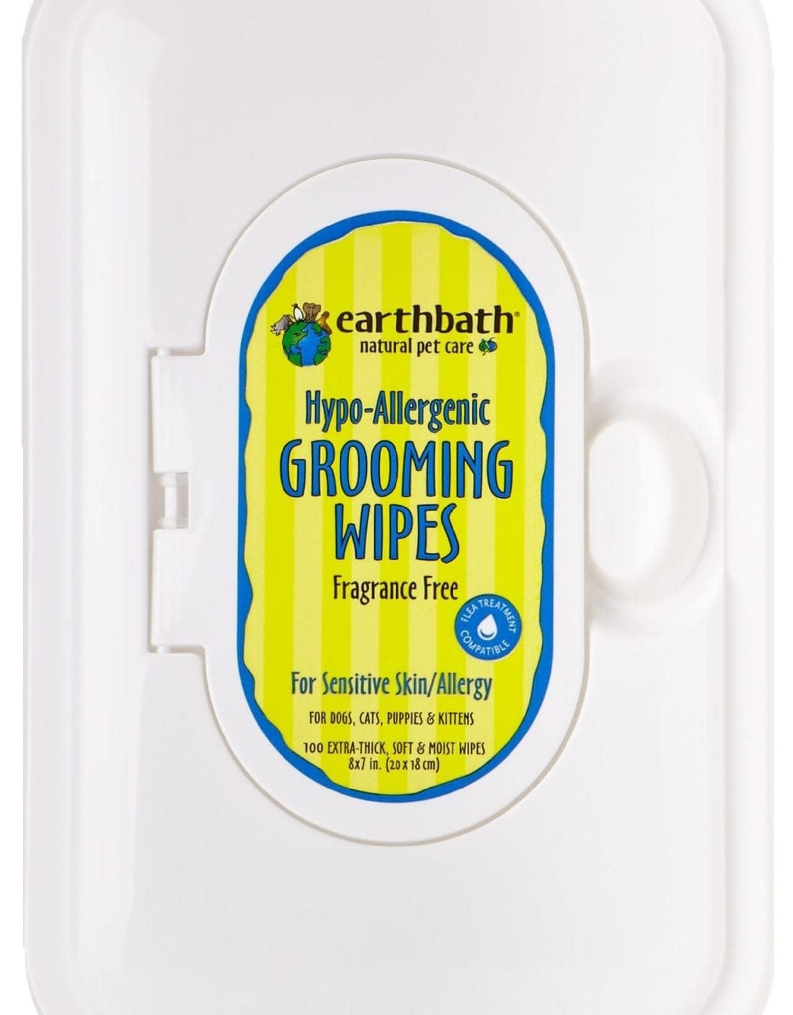Earthbath Earthbath Grooming Wipes Hypo Allergenic Travel Size 28 Wipes