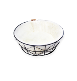 Be One Breed Be One Breed Cat Metal Wire Basket & Foam Cushion