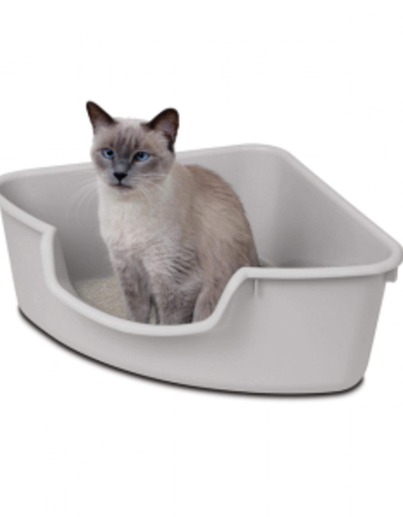 Smartcat Smartcat Corner Litter Box Grey