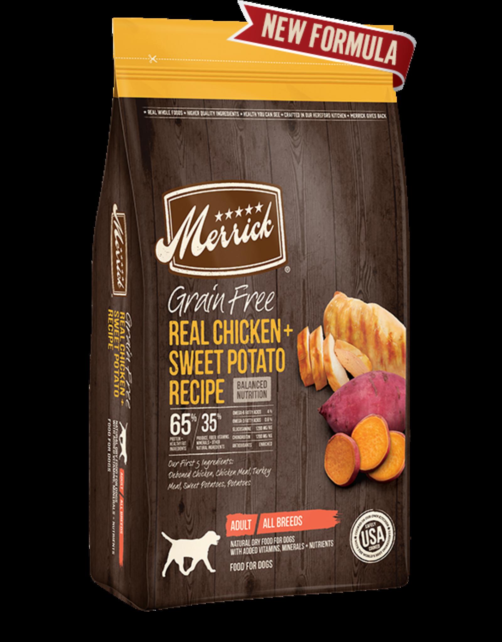 Merrick Merrick Dog Grain Free Chicken & Sweet Potato 4 LB