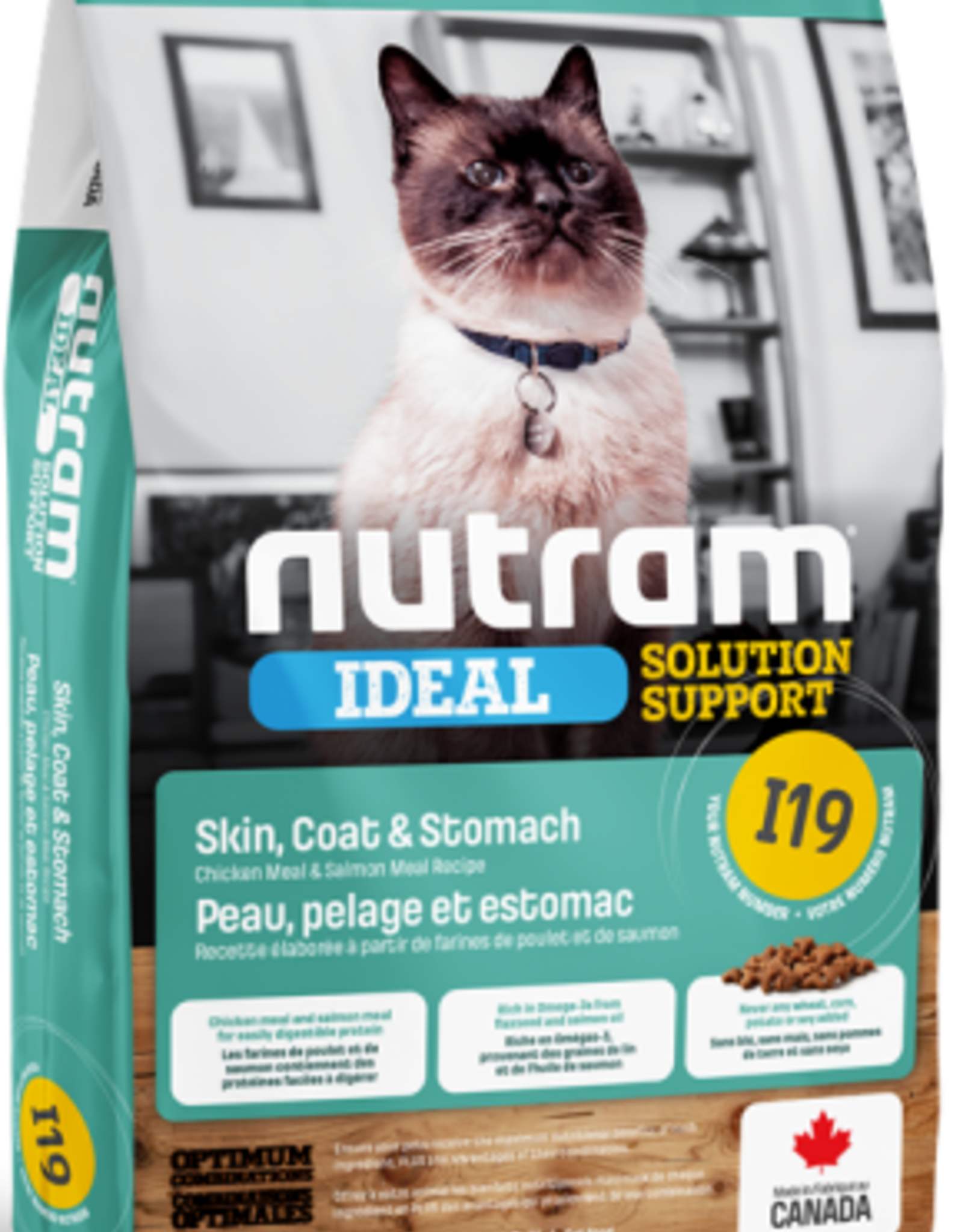 Nutram Nutram I19 Cat  Skin, Coat and Stomach 12 L B