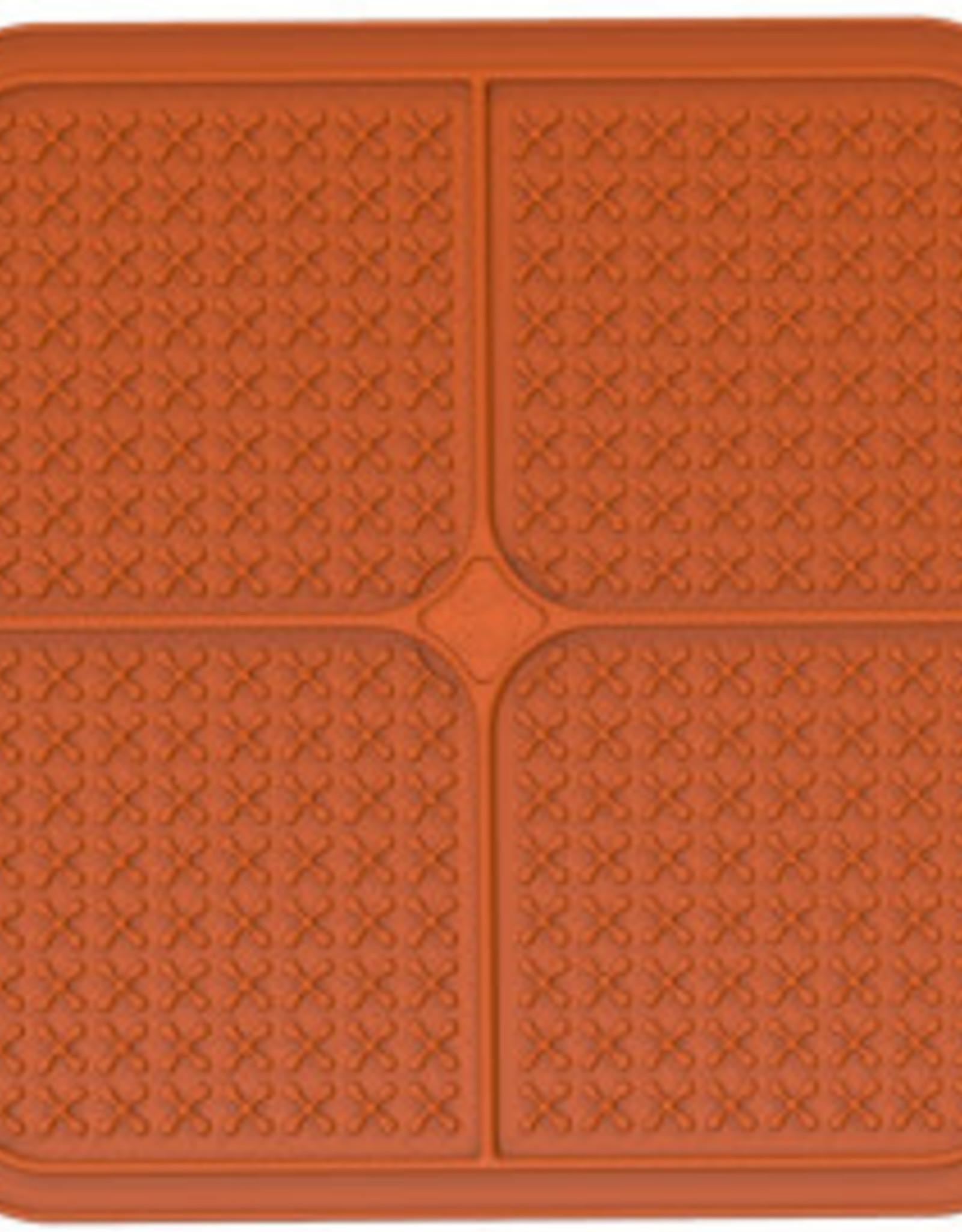LickiMat Lickimat Buddy Crosses Orange Small/Med