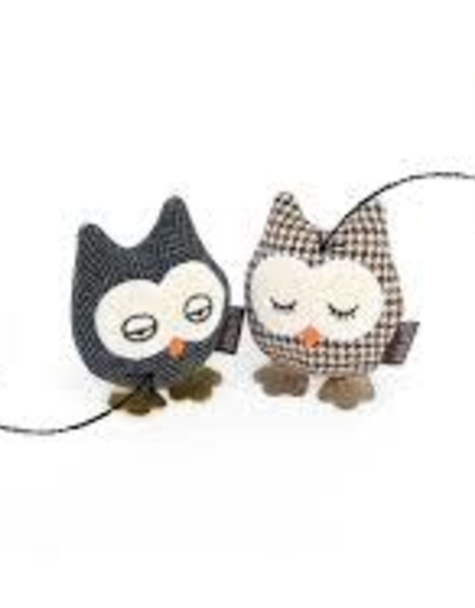 Pet Play Pet Play Feline Frenzy Plush Catnip Owl 2 pk