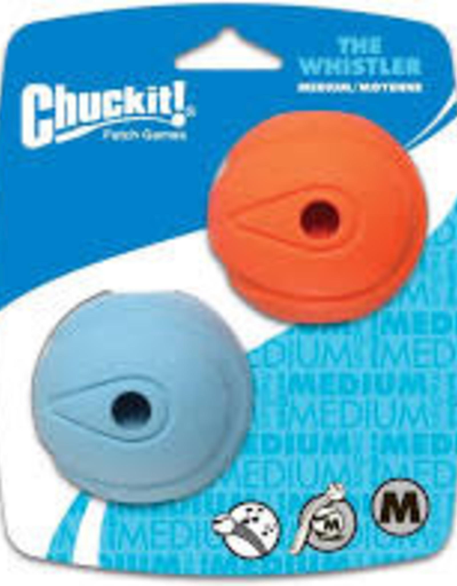 Chuck It! Chuck It! Whistle Ball 2 Pk  SM