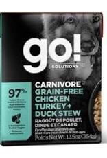 GO GO! Tetra Turkey, Chicken & Duck  Stew Skin & Coat Dog 12.5 OZ
